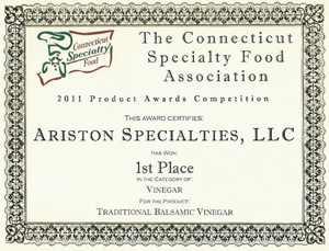 Ariston-1st-Place-Balsamic-Vinegar-Award-in-CT